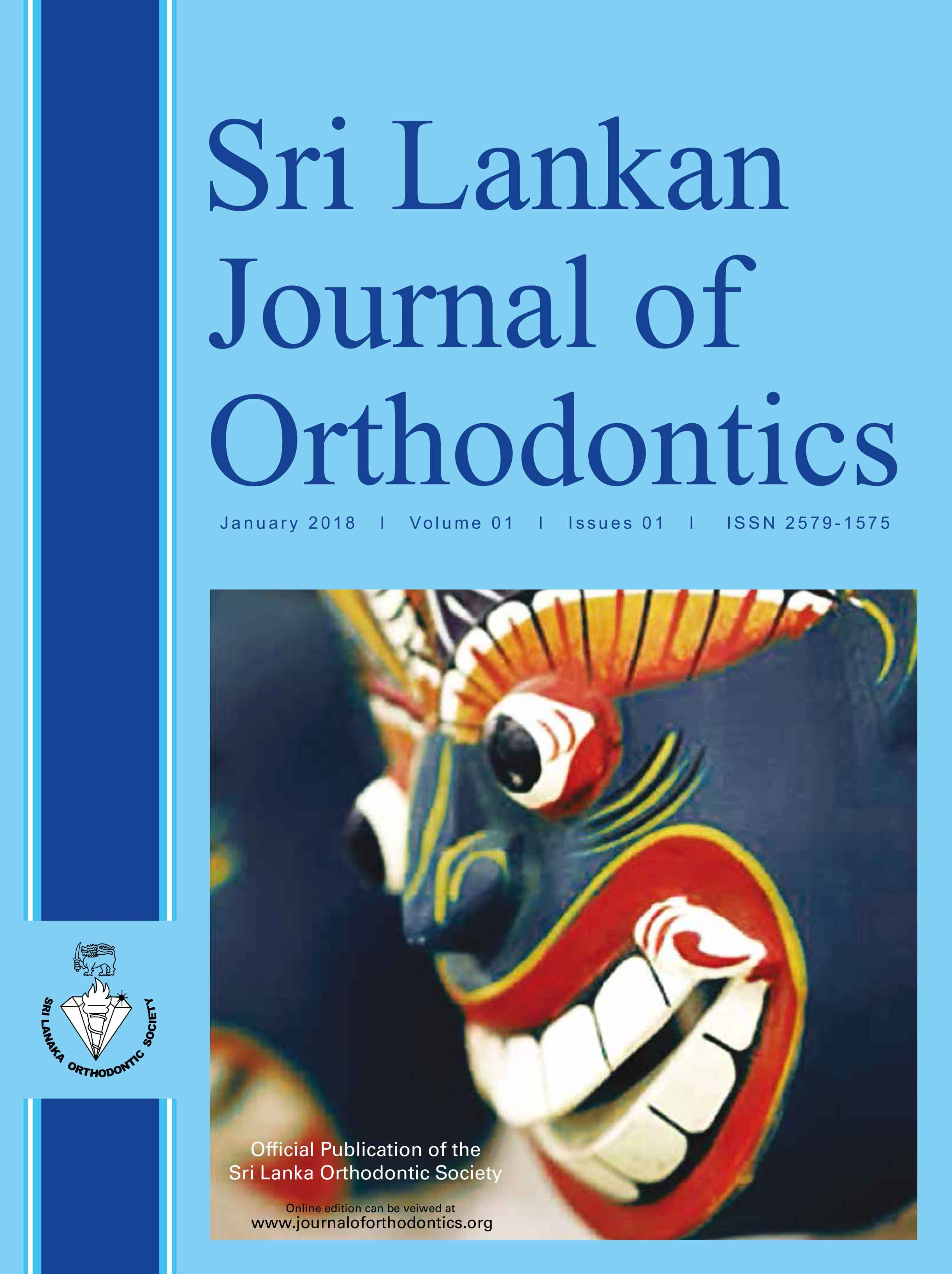 Sri Lanka Journal of Orthodontics